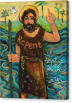 St. John The Baptist Canvas Print by Jen Norton