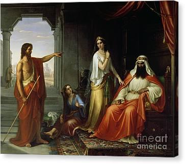 St. John The Baptist Rebuking Herod Canvas Print by Giovanni Fattori