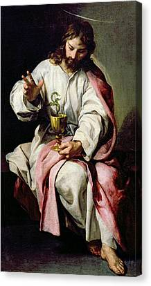 St John The Evangelist Canvas Print - St. John The Evangelist And The Poisoned Cup by Alonso Cano