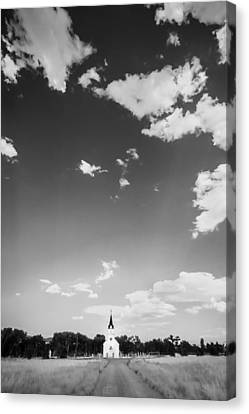 St John The Evangelist Canvas Print - St John The Evangelist Catholic Church Bw by Rich Franco