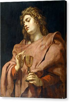 St John The Evangelist Canvas Print - St John The Evangelist by Peter Paul Rubens