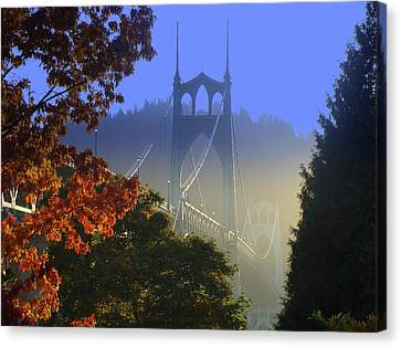 St. Johns Bridge Canvas Print by DerekTXFactor Creative