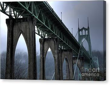 St Johns Bridge Oregon Canvas Print by Bob Christopher