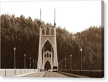 St. John's Bridge Canvas Print by Patricia Babbitt