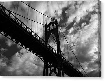 St Johns Bridge Canvas Print by Wes and Dotty Weber