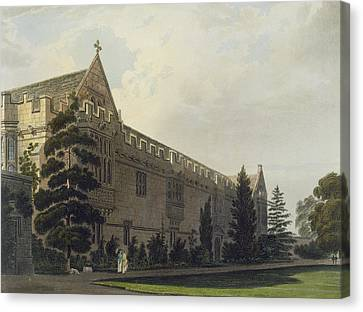 Buildings Canvas Print - St Johns College Seen From The Garden by Frederick Mackenzie