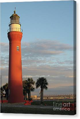 St. Johns River Lighthouse II Canvas Print by Christiane Schulze Art And Photography