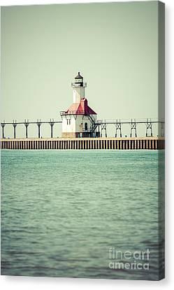 St. Joseph Lighthouse Vintage Picture  Canvas Print by Paul Velgos