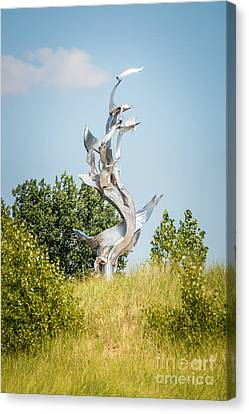 St. Joseph Michigan And You Seas Metal Sculpture Canvas Print by Paul Velgos
