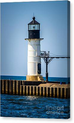 St. Joseph Outer Lighthouse Photo Canvas Print by Paul Velgos