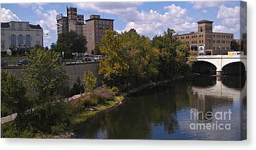 St. Joseph River Panorama Canvas Print by Anna Lisa Yoder