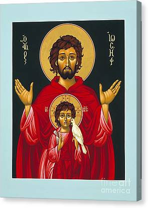 St. Joseph Shadow Of The Father 039 Canvas Print by William Hart McNichols