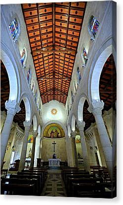 St. Joseph's Church -- Nazareth Canvas Print by Stephen Stookey