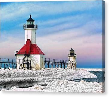 St Josephs Light In Winter Canvas Print