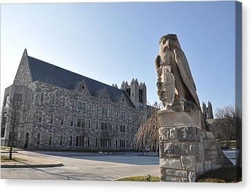 St Josephs University Hawk Statue Canvas Print by Bill Cannon