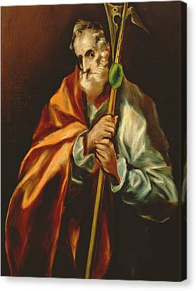 St. Jude Thaddeus, 1606 Oil On Canvas Canvas Print by El Greco