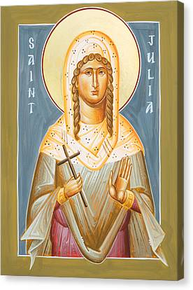 St Julia Of Carthage Icon Canvas Print - St Julia Of Carthage by Julia Bridget Hayes