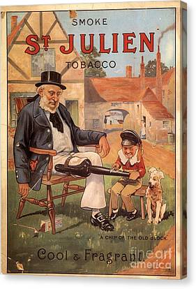 St Julien 1890s Uk Cigarettes Smoking Canvas Print by The Advertising Archives