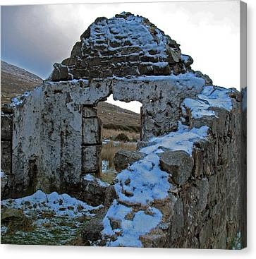 Canvas Print featuring the photograph St Kevin's Window by Kathleen Scanlan