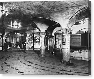 st. Lazare Subway Station Canvas Print by Underwood Archives