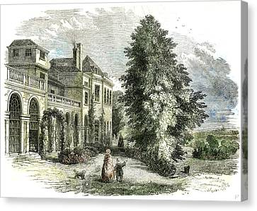 St Leonards On The Hill Near Windsor Uk 1852 Canvas Print by English School