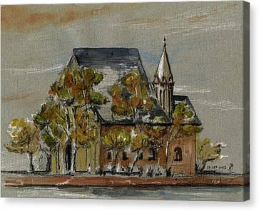 St Leonhardskirche Canvas Print by Juan  Bosco