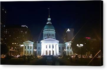 St. Louis At Night Canvas Print by Chris Tarpening