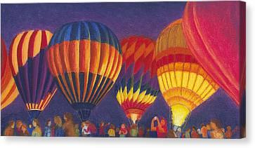 St Louis Balloon Glow Canvas Print