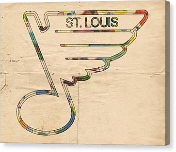St Louis Blues Hockey Poster Canvas Print