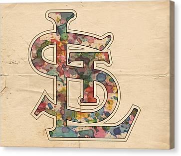 St Louis Cardinals Logo Vintage Canvas Print by Florian Rodarte