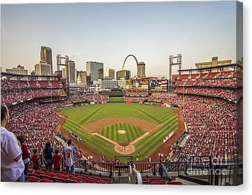 Pittsburgh Pirates Canvas Print - St. Louis Cardinals National Anthem by David Haskett