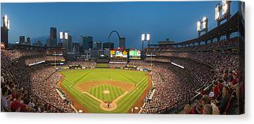 St. Louis Cardinals Busch Stadium Pano 5 Canvas Print by David Haskett