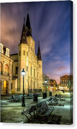 St. Louis Cathedral At Dawn Canvas Print by Tim Stanley