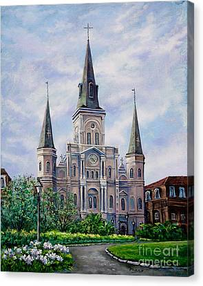 St. Louis Cathedral Canvas Print by Dianne Parks