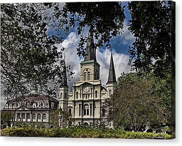 St. Louis Cathedral Canvas Print by Judy Vincent