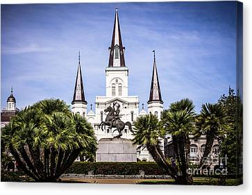 St.louis Cathedral Canvas Print - St. Louis Cathedral In New Orleans  by Paul Velgos