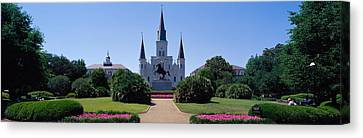 St.louis Cathedral Canvas Print - St Louis Cathedral Jackson Square New by Panoramic Images
