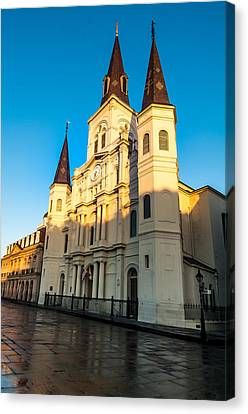 St. Louis Cathedral Kissed By The Morning Sun Canvas Print by Andy Crawford