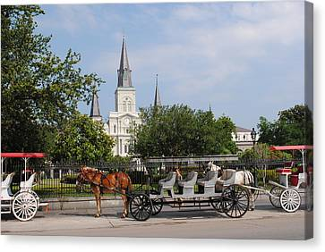 Canvas Print featuring the photograph St Louis Cathedral by Robert  Moss