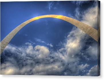 St. Louis Gateway Arch On The Fourth Of July Canvas Print