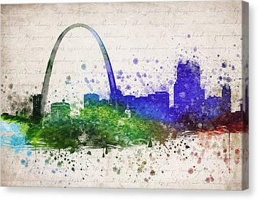 St Louis In Color Canvas Print by Aged Pixel