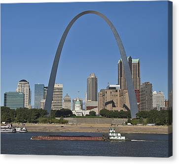 St Louis Skyline Canvas Print by Garry McMichael