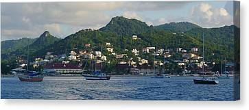 Canvas Print featuring the photograph St. Lucia - Cruise - Three Boats by Nora Boghossian