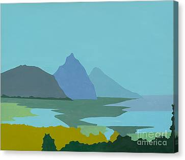 St. Lucia - W. Indies II Canvas Print by Elisabeta Hermann