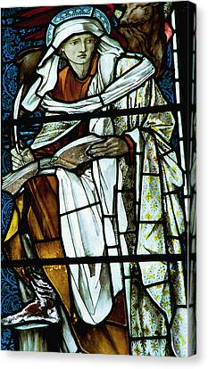 St Luke In Stained Glass Canvas Print by Philip Ralley