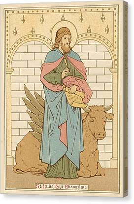 Saint Luke The Evangelist Canvas Print - St Luke The Evangelist by English School
