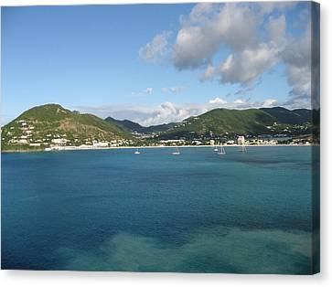 Canvas Print featuring the photograph St Maarten At A Distance by Jean Marie Maggi