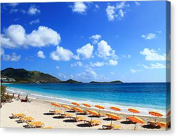 St. Maarten Calm Sea Canvas Print