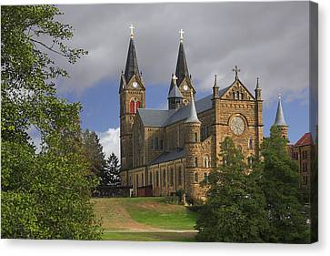 Canvas Print featuring the photograph St. Mainrad Archabbey by Wendell Thompson