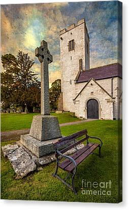 St. Marcellas Celtic Cross Canvas Print by Adrian Evans